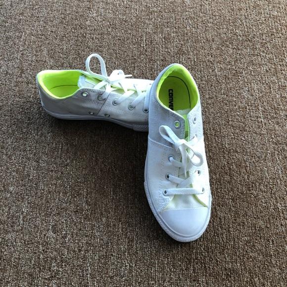 Converse Shoes   White Grey Size 3